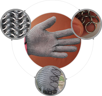 Steel chainmail products: stainless steel chainmail gloves, carbon steel chainmail, stainless steel chainmail, galvanized chainmail shirt without sleeves.